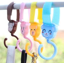2pcs cartoon animals Multifunctional stick hook rotate 360 degrees font b stroller b font hook wall