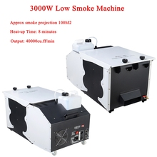 2019 New 3000W Low Smoke Machine DMX512 Fog Smoke Machine Professional For DJ Disco Stage Haze Machine Effect Equipment все цены