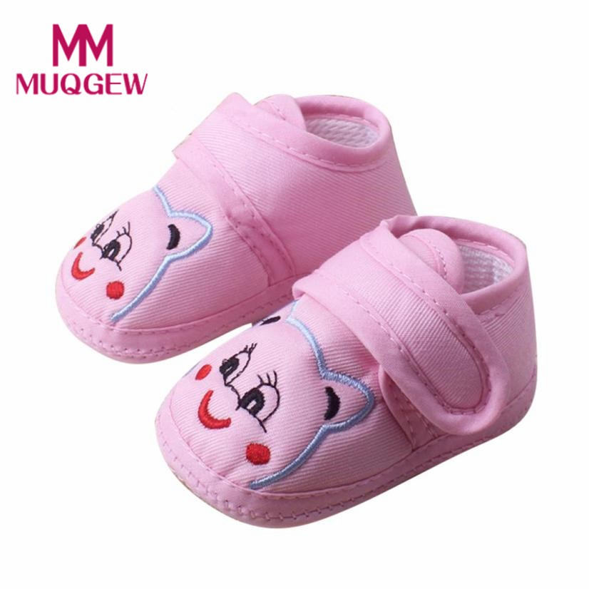 First Walkers Dynamic Happy Spring And Autumn Female Baby 0-1 Years Old Canvas Soft Bottom Baby Toddler Shoes Buy One Get One Free Mother & Kids