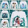 Famous Spirited Away T Shirt Anime Ogino Chihiro Cosplay Costume T-shirt Men Women Fashion Long Sleeve CartoonTops YD-017