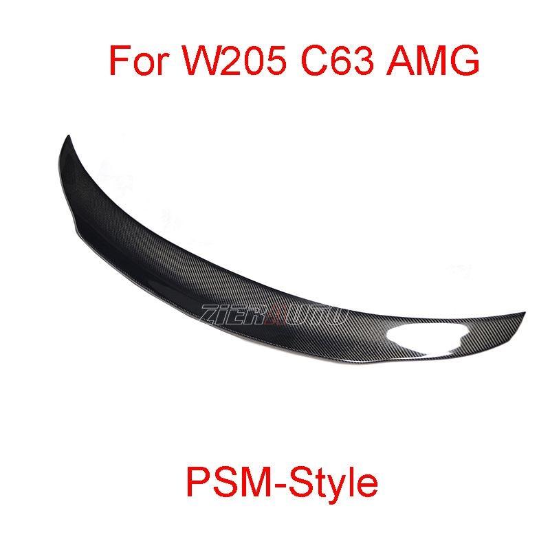 Carbon Fiber Spoiler för Mercedes W205 C63 AMG PSM-stil Mercedes-Benz C klass Sedan Carbon Styling Wing Body Kit