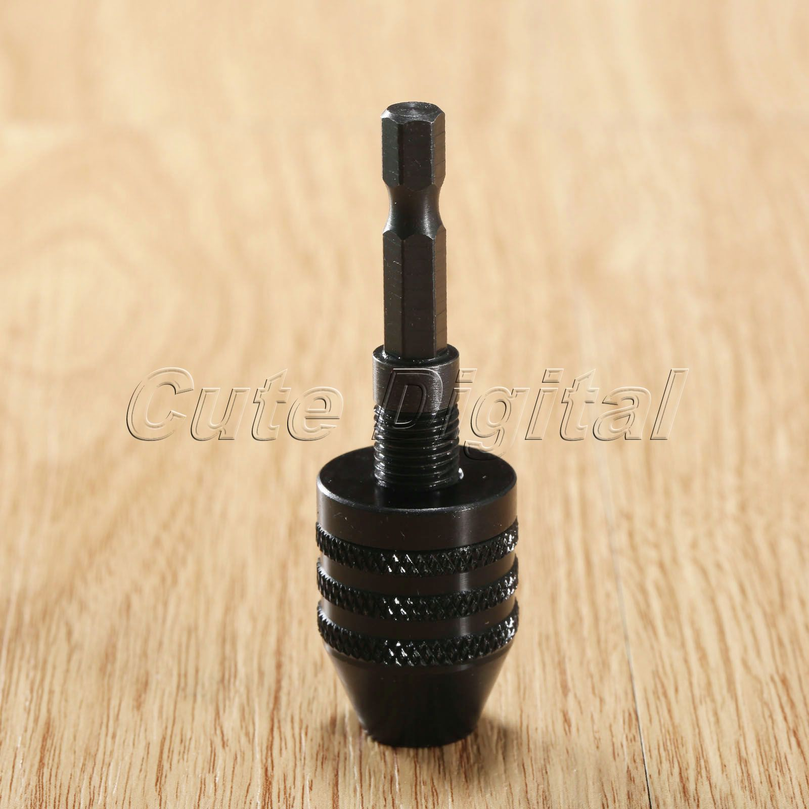 0.3-6.5mm Keyless Drill Bit Chuck Screwdriver Machine Conversion Drill Chuck Quick Change Chuck Adapter Converter 1/4 Hex