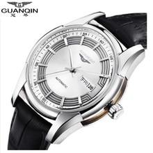 Sapphire GUANQIN Watch Men Sport Watches Luxury Men Mechanical Watches Waterproof Military Men Watch Analog Leather Wristwatches