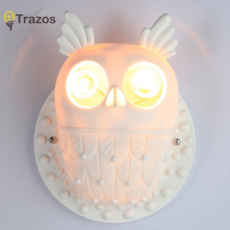 все цены на Modern owl Wall Lamp Sconce For Living Room Bedroom Wall Light Resi Body Glass Lampshade Bathroom Light Retro Lamp Home Lighting онлайн