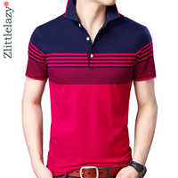 2019 brand casual summer striped short sleeve polo shirt men poloshirt jersey quality mens polos tee shirts dress fashions 32503