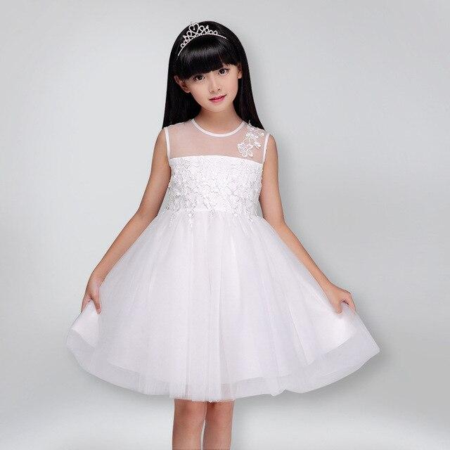 Weiße Mädchen Kleider Feste Prinzessin Kleid Bogen Sommer Spitze  Transparent 2017 Neue Hochzeit Mädchen tutu kinder kleider Mädchen Kleidung  in ...