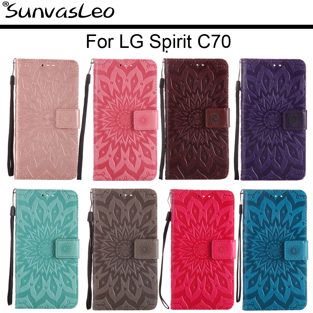 For <font><b>LG</b></font> <font><b>Spirit</b></font> 4G LTE H440N H420 <font><b>C70</b></font> <font><b>Flip</b></font> Leather <font><b>Case</b></font> Embossing Wallet Back Cover Skin Shell Stander Holder Fundas Capa image