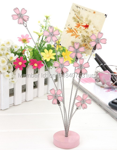 E7 SAKURA MULTI-STEM MEMO / NOTE CLIP PRACTICAL / NOVELTY STANLESS - 가정 장식