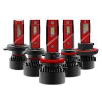 1 Set H4 F3 Car LED Headlight H1 H3 H7 H8 H9 H11 9005 9006 HB3/4 9012 HIR2 90W 10000LM G-XP Chip Turbo Fan 6000K Front Lamp Bulb