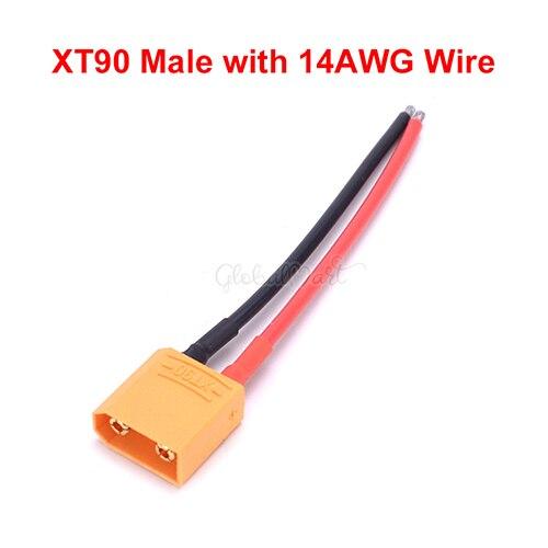 XT90 Разъем Женский/мужской с 14AWG провода/Traxxas разъем TRX стиль для RC Lipo батарея конвертер адаптер разъем - Цвет: Choice 4