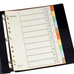 Тайвань HFYP IX-902 сортировки классифицировать Binder каталожные разделители бумага карты PP 11 отверстий 5 цветов 10 листов/сумки папка вложения