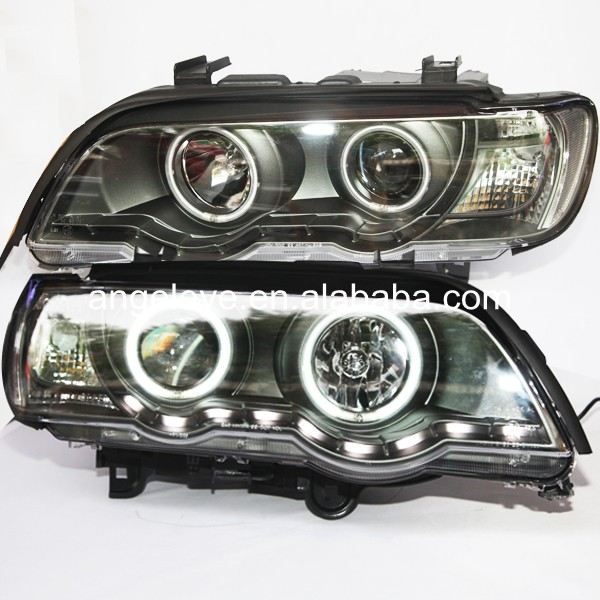 For BMW for X5 E53 1999-2003 year Head Lamp Front Light LED Angel Eyes LF bmw 735 1999 г в спб