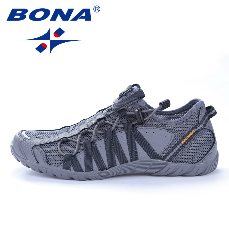 BONA New Popular Style Men Running Shoes Lace Up Athletic Shoes Outdoor Walkng jogging Sneakers Comfortable Fast Free Shipping 2