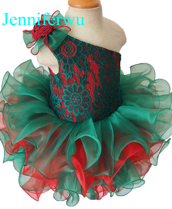 купить baby girl pageant  dress  girl brand clothes baby girl party dress  G095B red&emerald дешево