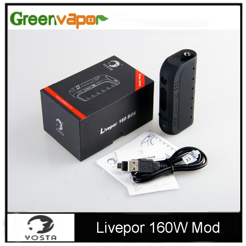 100 Original Yosta Livepor 160W Box Mod 160W Max Power VW TC font b Electronic b