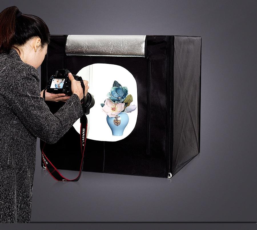CY 70*70*70cm LED Photo Studio Softbox Light Tent Soft Box Fotostudio Photo Light Box For Phone Camera DSLR Jewelry Toys Shoes