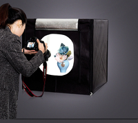 CY 70 70 70cm LED Photo Studio Softbox Light Tent Soft Box AC Adapter Backgrounds For