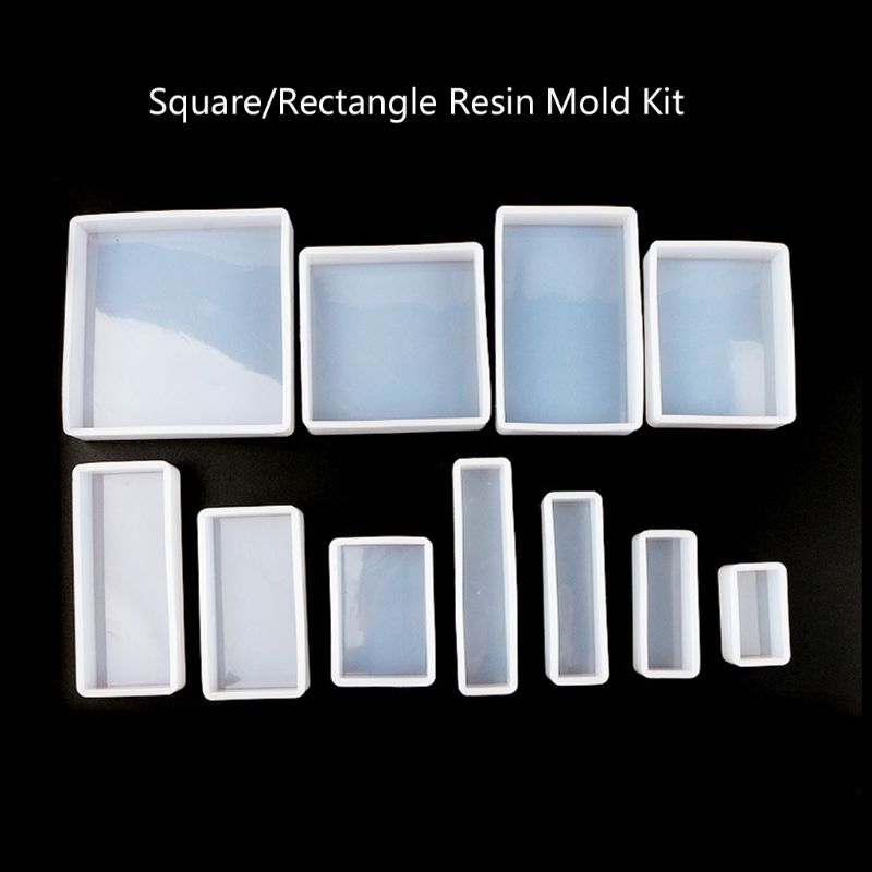 11Pcs Square Rectangle Cubic Molds Kit Resin Casing Craft Jewelry Making Tools11Pcs Square Rectangle Cubic Molds Kit Resin Casing Craft Jewelry Making Tools