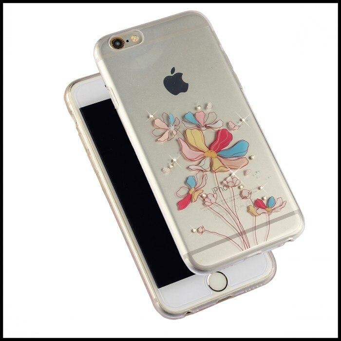 6 más cubierta del teléfono accesorios de colores de TPU suave Crystal Clear flo