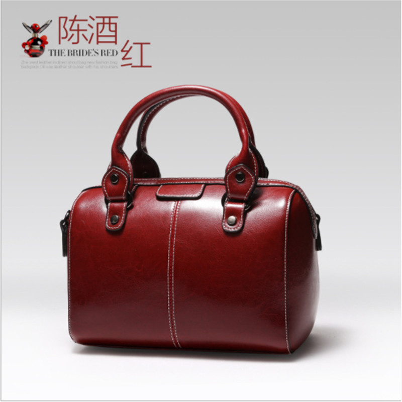 B0052 Real Cow Leather Ladies Women Genuine Leather Handbag Shoulder Bag High Quality Designer Luxury Brand Boston Crossbody Bag все цены