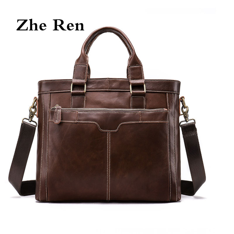 shoulder bags for men Genuine leather men's Handbags vintage man's purse business crossbody bags Man briefcase все цены