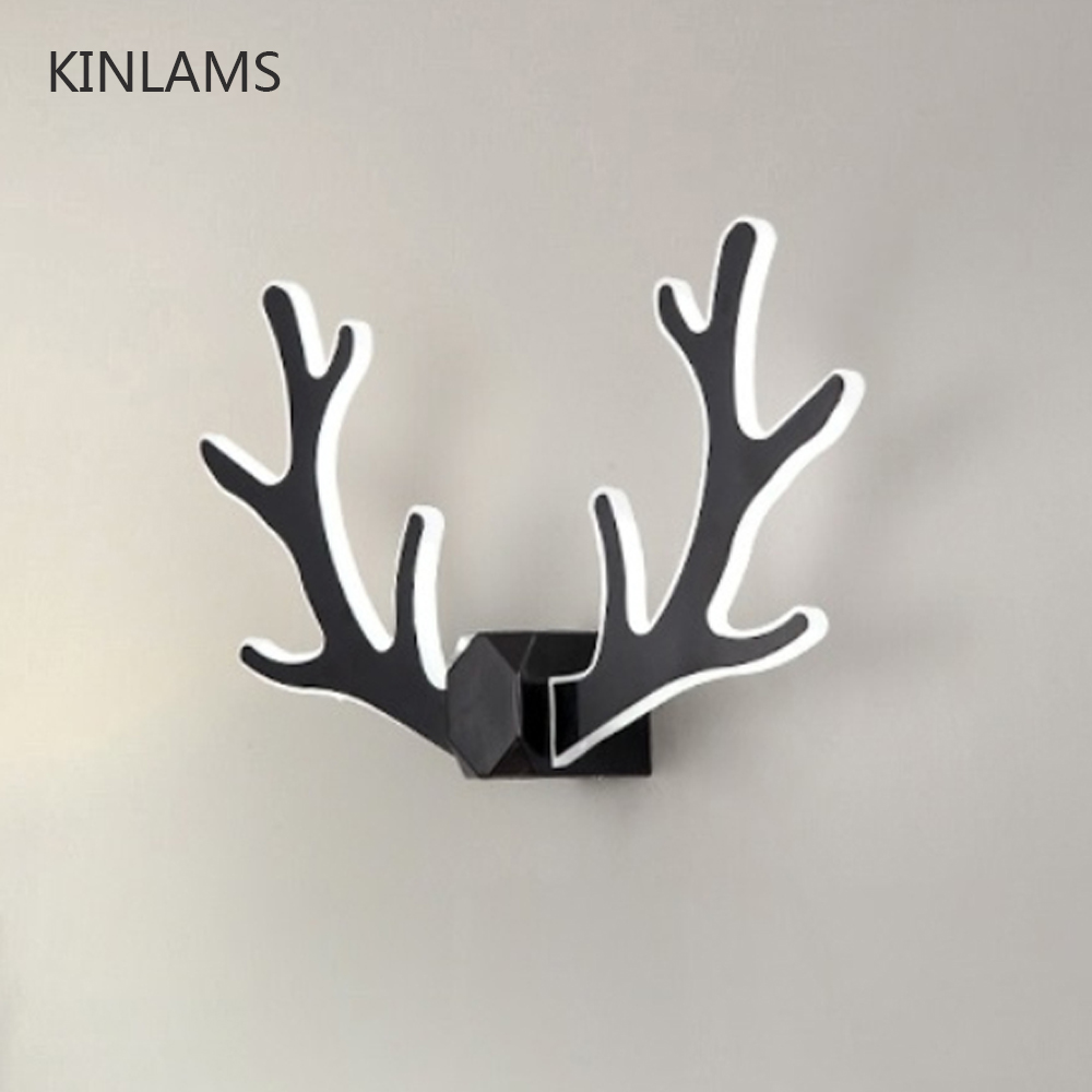 Modern minimalist coloful antler wall lamp Living Room Bar Hotel Children Bedroom Creative Decor Deer Wall Light LED Night LightModern minimalist coloful antler wall lamp Living Room Bar Hotel Children Bedroom Creative Decor Deer Wall Light LED Night Light