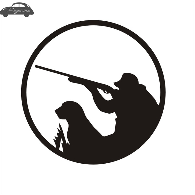 Pegatina hunt perro decal hunting club shotgun sticker hollow sticker hunter car window vinyl decal funny