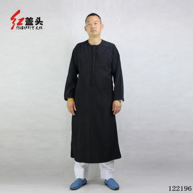 New High quality P/C Muslim men's thobe round neck arab clothing men wholesale, Custom Worship garments