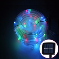 10m 800 1200LM Solar Panel Water Resistant 100 LED Casing Rope Light DIY LED Decorative Lighting
