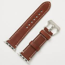 Винтаж кожаный ремешок для Apple Watch 3/2/1 iWatch 4 из натуральной коровьей ремешки 38/40 мм 42/42 мм запястье браслет Wristbelt челнока