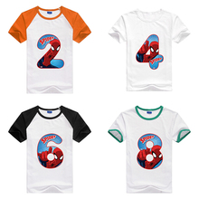 Summer 2 14 Year Old Kids Clothes Happy Birthday Tee Baby Number 19th Toddler T Shirts Boy Girl Short Sleeve Children Shirt