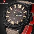 2016 Marca De Luxo Relógio Militar Homens Relógio Analógico de Quartzo de Couro Canvas Strap Relógio Homem Esportes Relógios Exército Relogios Masculino