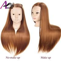 Profesional novia peluquería maniquí muñecas rubia pelo largo entrenamiento de los peluqueros cabeza larga sintética pelo grueso maniquí