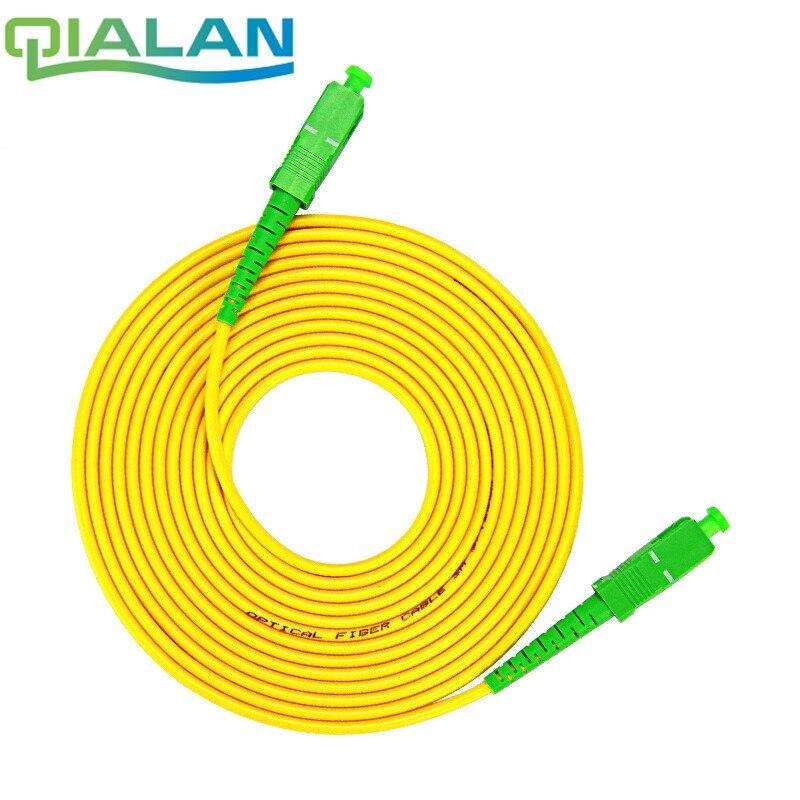20m SC APC To SC APC Patchcord Simplex 2.0mm PVC Single Mode Fiber Patch Cable,FTTH Patch Cord, Jumper Bend Insensitive