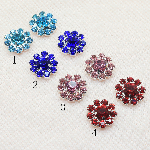16mm Metal Rhinestone Ons Wedding Invitation Card Embellishment Hair Flower Center Sbook Sewing Accessories