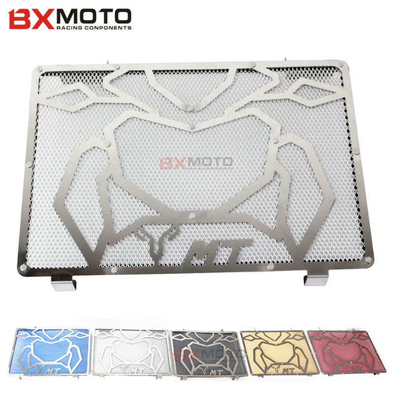 2017 New Motorcycle accessories Five color Radiator Guard Grill Bezel Engine Radiator Protector For Yamaha MT09 MT-09 2014-2016