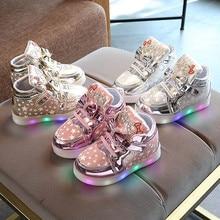 Одежда для малышей; модные кроссовки для девочек; детская одежда со звездой для мальчиков и девочек; светящаяся детская Повседневное красочные светильник кроссовки