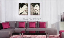portrait canvas paintings vintage style beauty  black and white pictures modern art fine art decorative art free shipping cuesoul 12 black and white engraved soccer foosballs free shipping one dozen