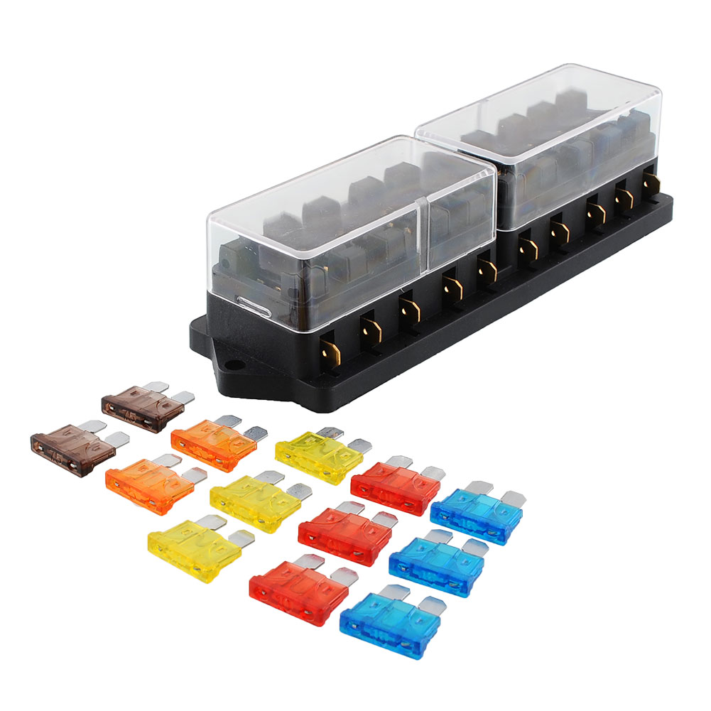 compare prices on terminal fuse block online shopping buy low 10 port way car automotive ato apr fuse block output box holder terminal