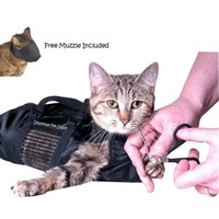 soft-pet-cat-grooming-bag-scratchable-kitten-puppy-nail-clipping-bathing-cover-mesh-panel-pet-cleaning-bags-pets-cleaning-supply