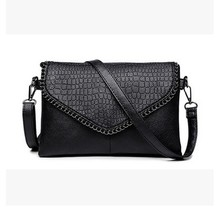 MAYFULL PU leather shoulder bag women soft skin envelope lady cover plaid business casual leisure hand brand