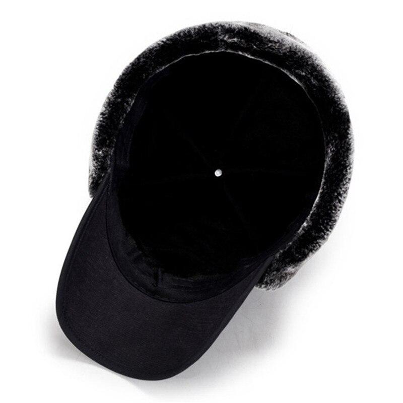 XdanqinX hombres oído protección cara Bomber sombreros más gruesa de terciopelo  cálido invierno mujer sombrero resistir la nieve hombre hueso tapa sombrero  ... 75732fdf28e