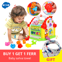Дети Fun Tree House развивающий куб игрушка обучающий Коттедж с музыкой и огнями и обучающие игры и в форме животных часы-кольцо с крышкой игрушка