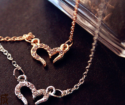 Tiny Hollow love Heart Mothers Day pendant charm Necklaces Zircon Wishing Sign Love Necklace for Lovers Couples jewelry