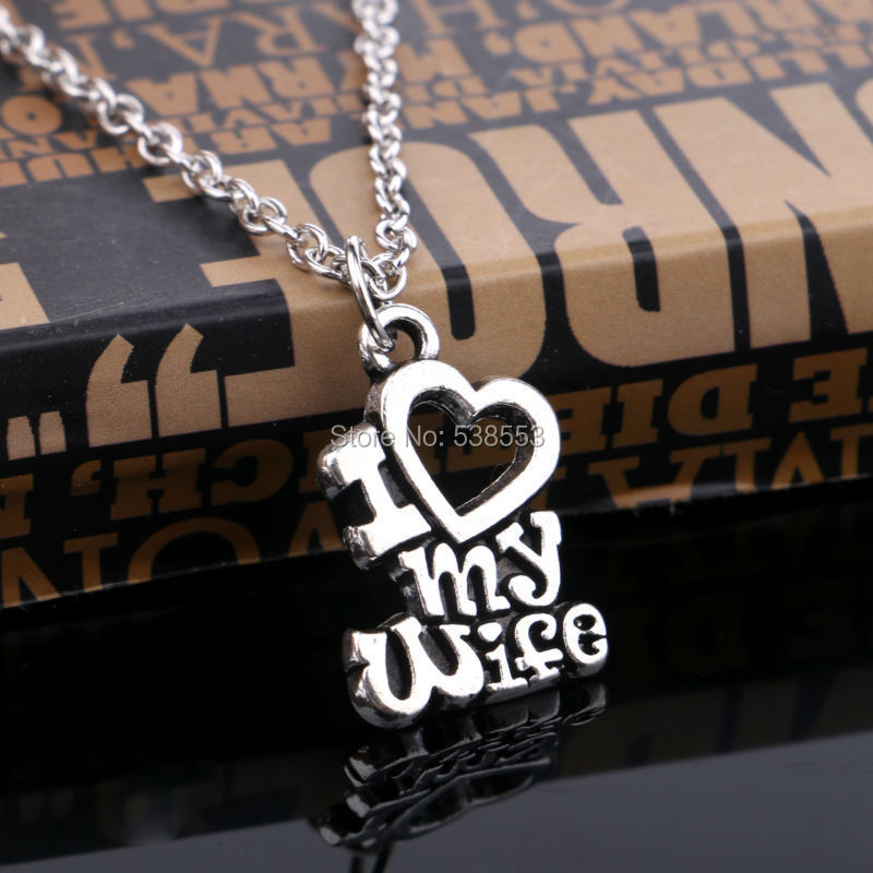 Marvelous Best Gift For My Wife Part - 10: New Arrival Valentines Gift Christmas Gift I Love My Wife Message Heart  Charm Pendant Necklace Statement Best Gifts For Lover