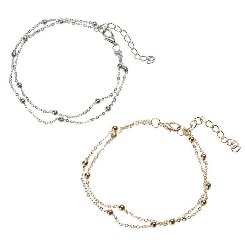 5 x ensemble infini cheville cheville Bracelet sandale pied chaîne~PL