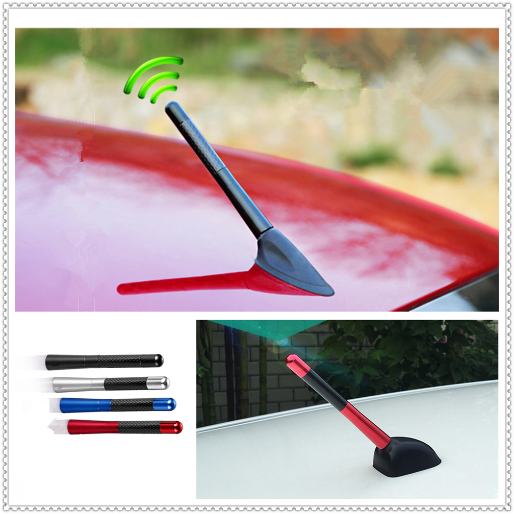 Car Styling 12cm Carbon Fiber roof Short Radio signal Antenna for Kia Forte Ceed Stonic Stinger Rio Picanto Niro