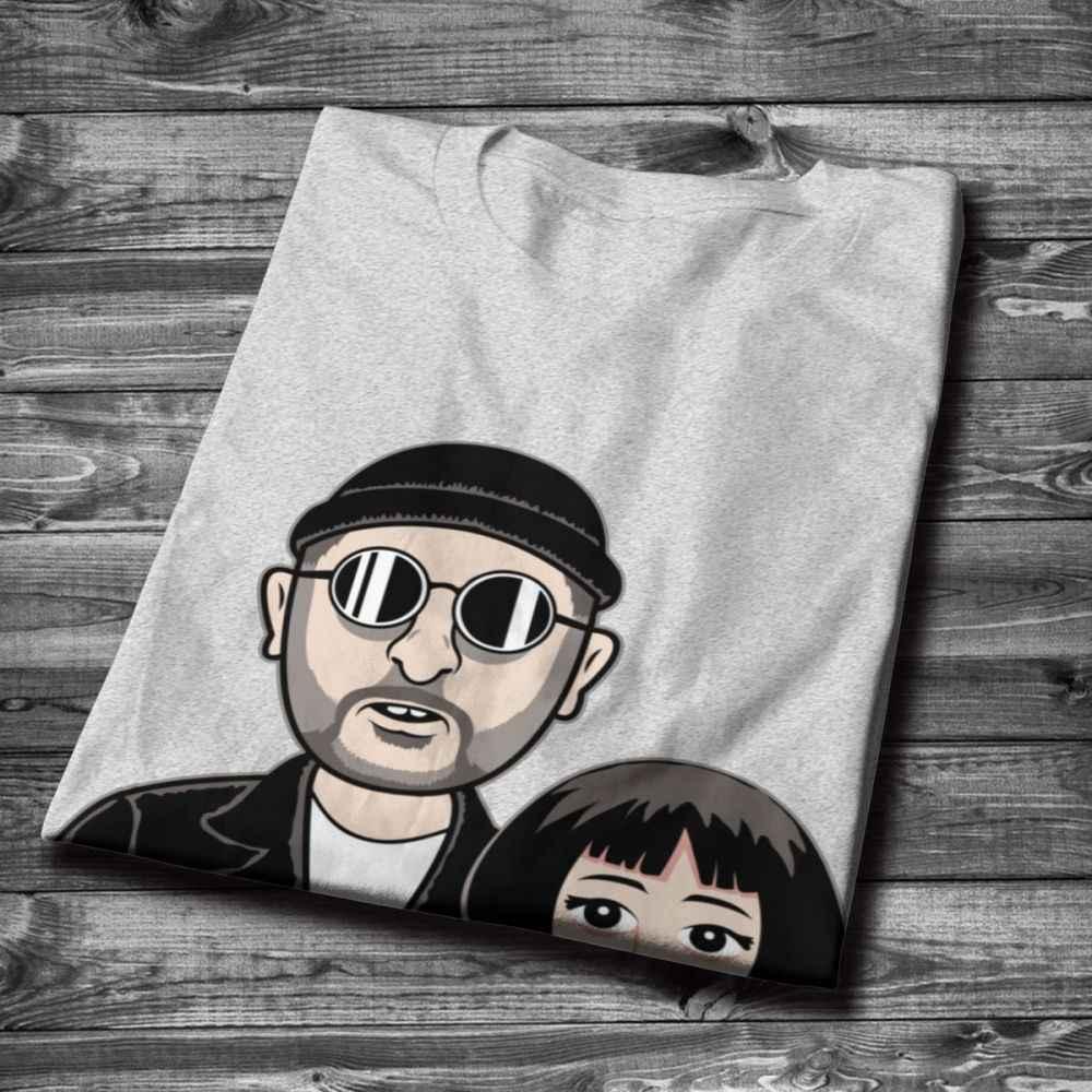 Crewneck ليون المهنية تنظيف ماتيلدا Hitmen يضر جميل T قميص الجرافيك طباعة رجل الطبيعية القطن T قميص بالجملة