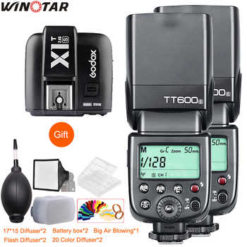 2x Godox TT600 TT600S 2.4G Wireless Camera Flash Speedlite+X1T-N/C/S/F/O Transmitter for Nikon Canon Sony Fuji Olympus Panasonic - DISCOUNT ITEM  20 OFF Consumer Electronics