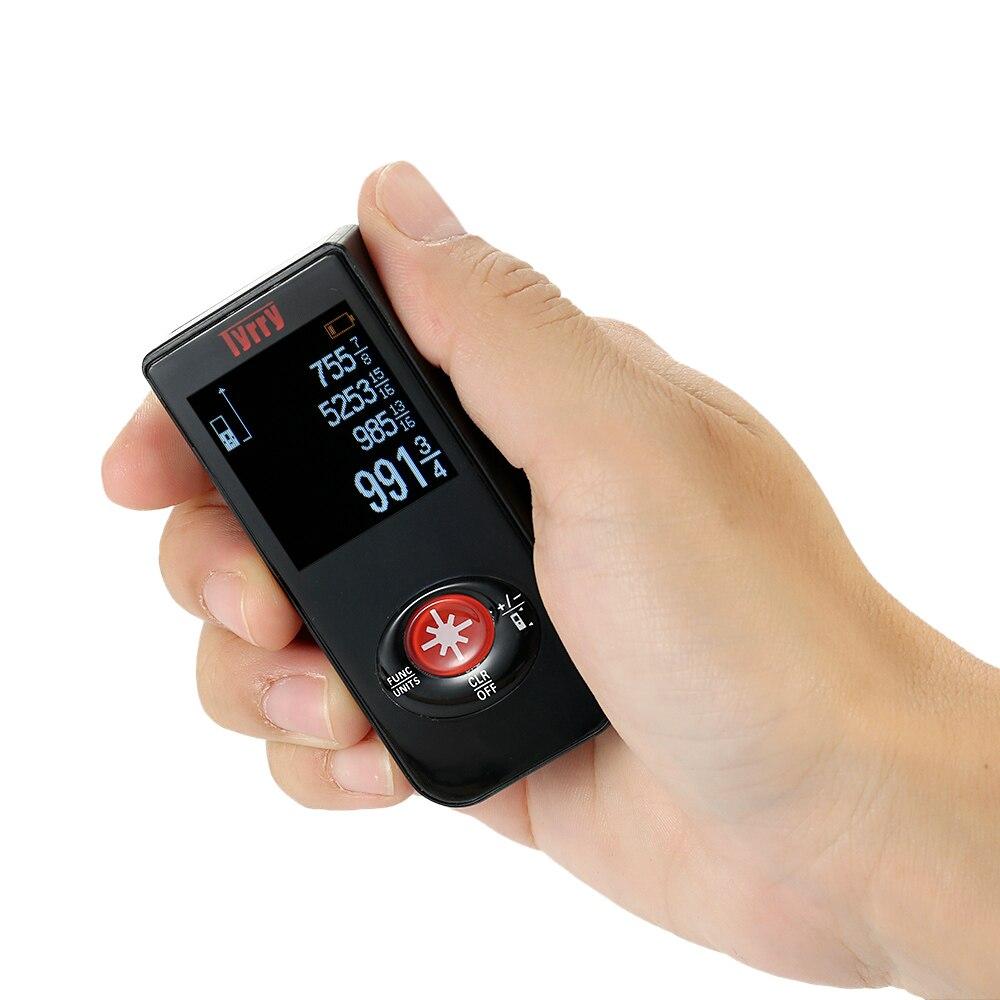 Mini medidor de distancia láser USB telémetro láser Digital construcción herramientas gama de cinta de medir distancia volumen Measur